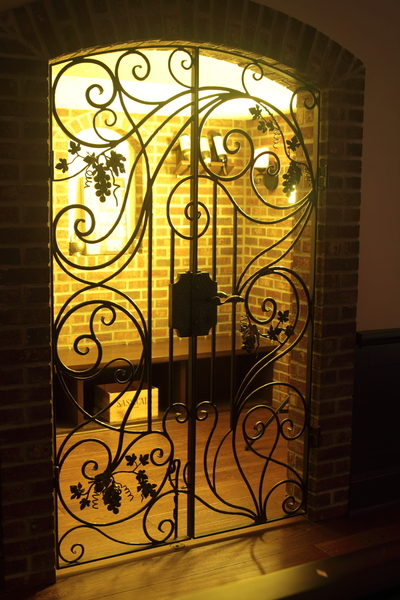 Wine cellar gate, forged iron