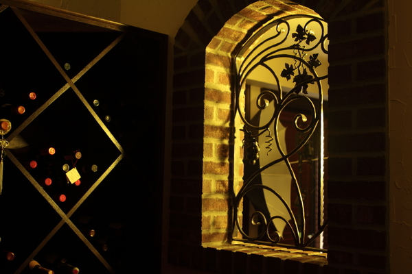 Wine cellar window grate
