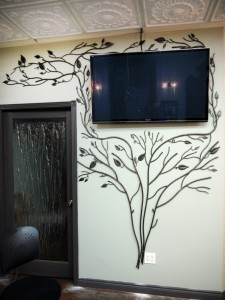 Tree feature wall