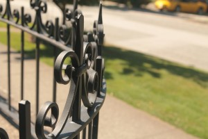 Wrought iron fence, detail