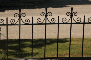 Victorian wrought iron fence
