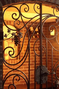 Wine cellar gate, detail